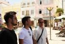 Lukas, Markus und Mathias in Lagos. (Foto: Archiv)