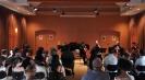 Die Vier EvangCellisten mit Alexey (für den erkrankten Lukas) während des Workshop-Abschlusskonzertes der