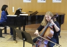 Mit Violetta Köhn (Kl) während der Cello- und Kammermusikkurse innerhalb der
