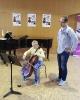 Mathias während der Cello- und Kammermusikkurse innerhalb der
