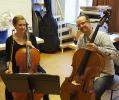 Mit Mathias während der Cello- und Kammermusikkurse innerhalb der