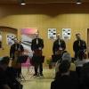 Die Vier EvangCellisten (mit Alexey für den verhinderten Lukas) beim 'Cellism-Release-Konzert' innerhalb der