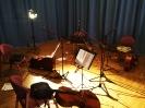 Unser üblicher Saal für die Aufnahmen mit dem Tonstudio