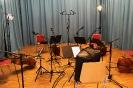 Vier Celli und Bajan (Knopfakkordeon) - im Tonstudio mit