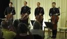 Die Vier EvangCellisten im Café Buch-Oase in Kassel 2014 (Foto: Archiv)