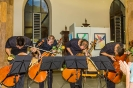 Die Vier EvangCellisten beim Konzert am 13.08.2015 im Foyer des Heilig-Geist-Spitals in Ravensburg (Foto: Michael Gregorowius, Archiv)