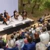 Die Vier EvangCellisten in Benneckenstein / Festival THEATERNATUR 2019 (Foto: Frank Drechsler)